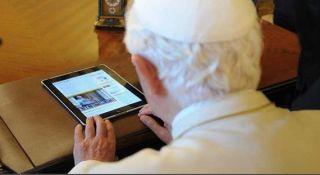 pope, twitter, ipad