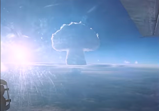 The Tsar Bomba explodes over the Russian Arctic