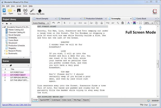 Celtx Plus Screenwriting Software Review - Pros and Cons