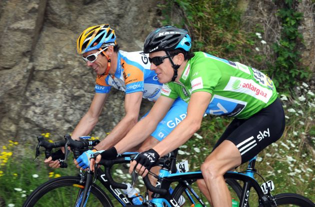 David Millar and Geraint Thomas, Criterium du Dauphine 2010, stage two