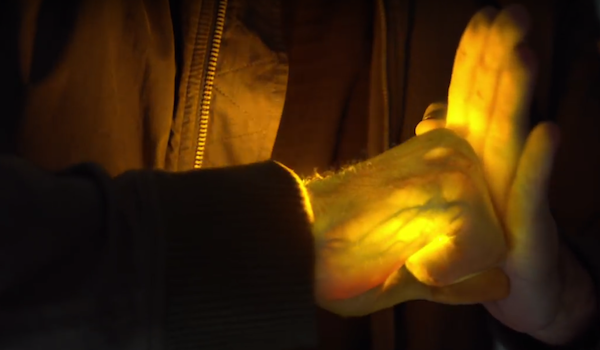 glowing hands on Iron Fist