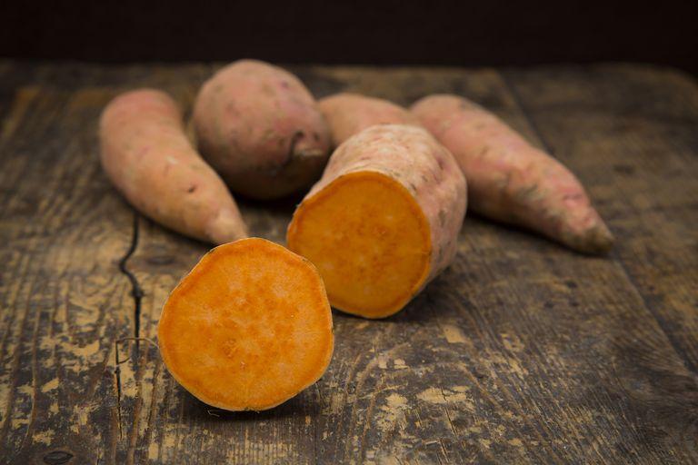 How to grow sweet potatoes orange sweet potato on table