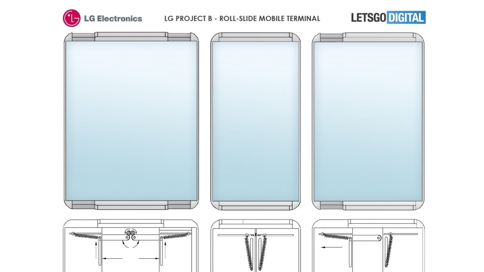 LG rollable phone patent
