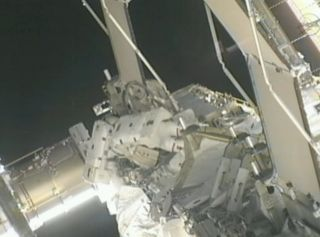 Spacewalking Astronauts Isolate Ammonia Leak