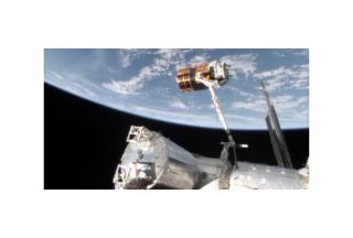 Japan's HTV-4 on ISS Robotic Arm