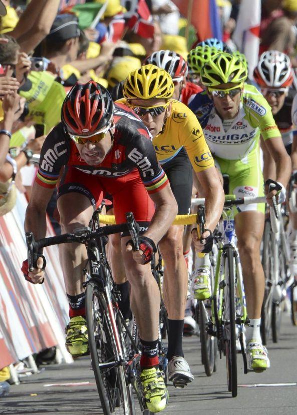 Cadel Evans, Tour de France 2012, stage 10
