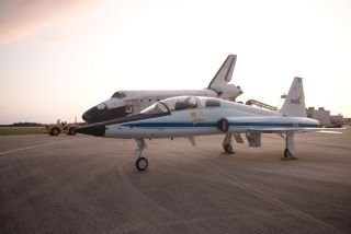 NASA T-38 Jet and Shuttle Discovery