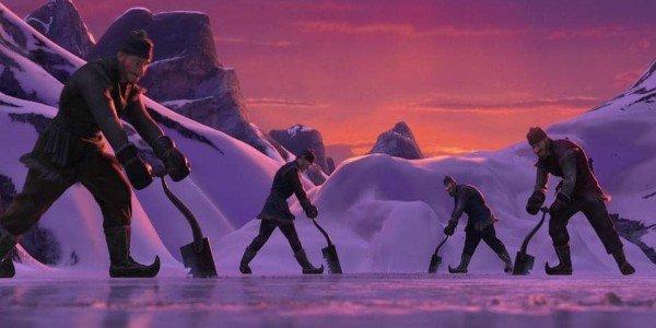 Frozen men on ice