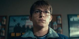 Cherry (Tom Holland) in a scene from Cherry.