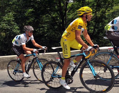 Rinaldo Nocentini, Vladimir Efimkin, Tour de France 2009, stage 9