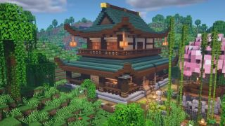 Minecraft house ideas - A Japanese house build