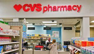 A CVS pharmacy counter in Saugus, Massachusetts, in 2019.
