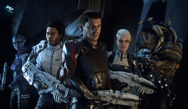 the ship's crew gathers in mass effect andromeda