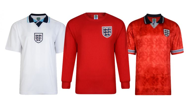 Retro England Football kits