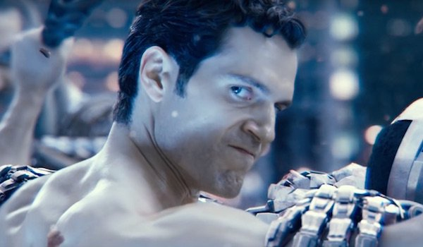 Superman angrily staring at Flash in Justice League