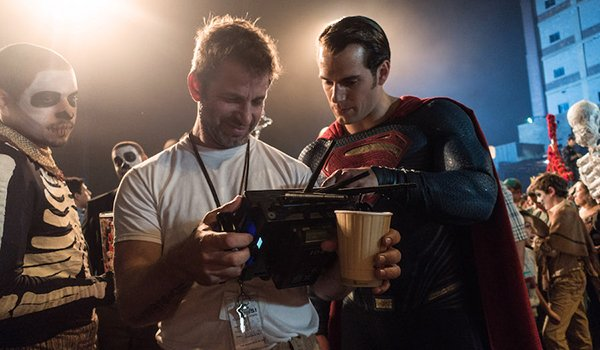Director Zack Snyder and Henry Cavill