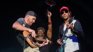 A picture of Prophets Of Rage in concert