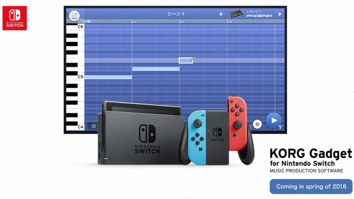 nintendo switch is getting a synth fuelled music making app from korg techradar. Black Bedroom Furniture Sets. Home Design Ideas