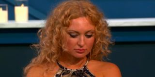 Natalie Mordovtseva looking sad at the tell-all 90 Day Fiance