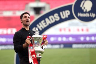 Mikel Arteta led Arsenal to FA Cup glory last season.