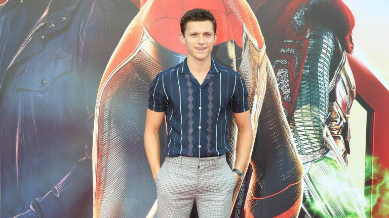 Tom Holland promoting the release of Spider-Man: Far Away From Home