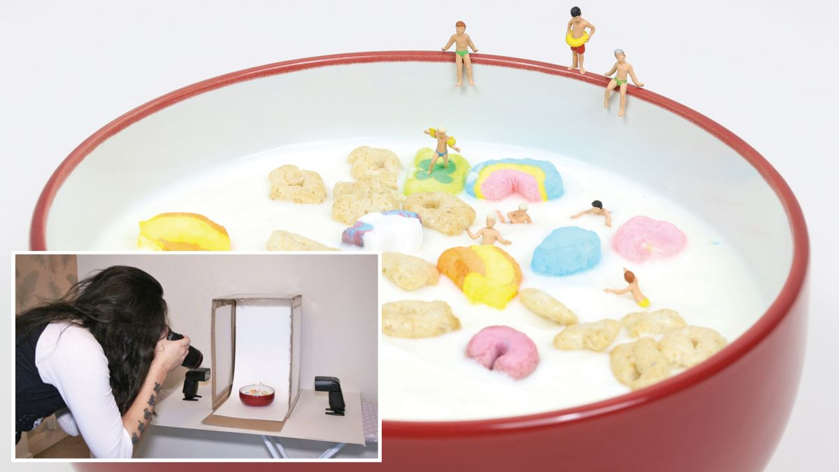 Home photography ideas: a seriously cereal-y macro swimming pool scene!