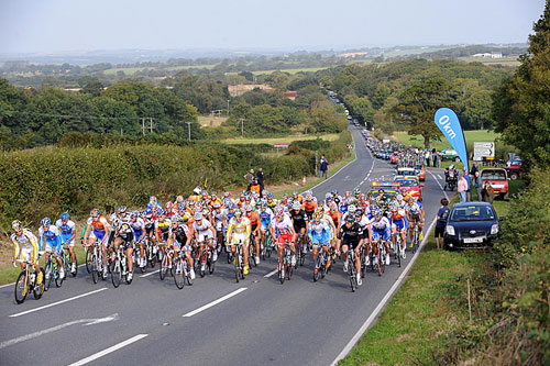 Hatherleigh start, Tour of Britain 2009, stage seven