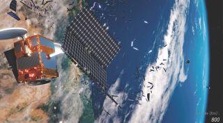 Satellite breakup art