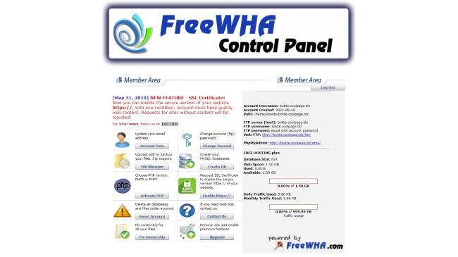 Free WHA Control Panel