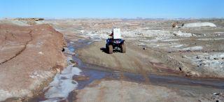 Journalist Howell Rides ATV