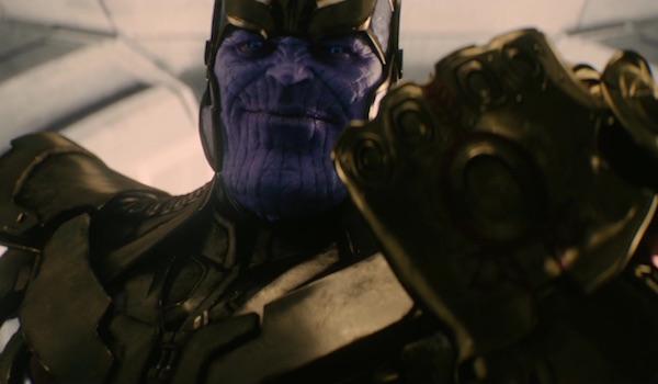 Thanos wearing Infinity Gauntlet