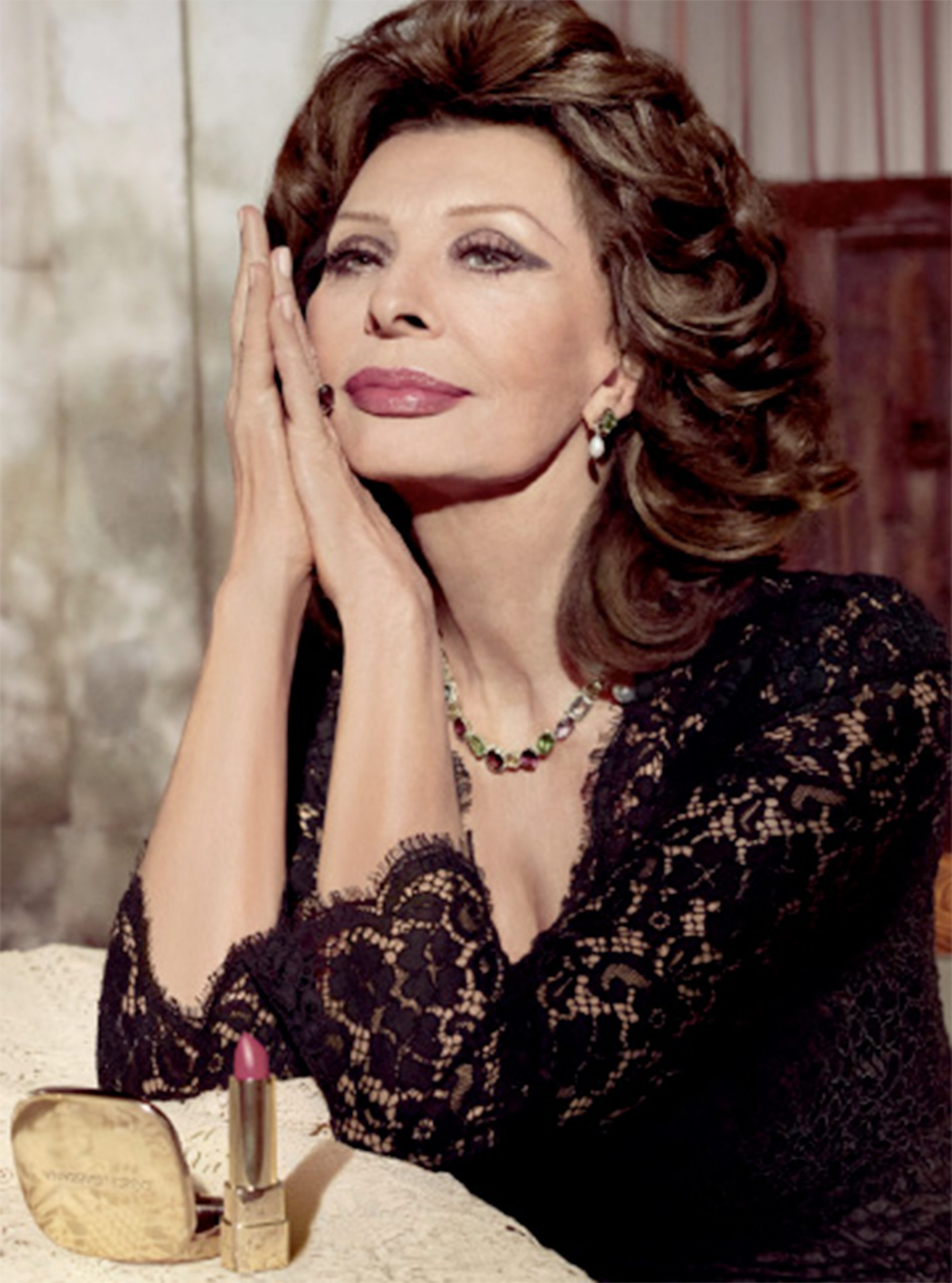 Sophia Loren In Dolce & Gabbana Lipstick Ad