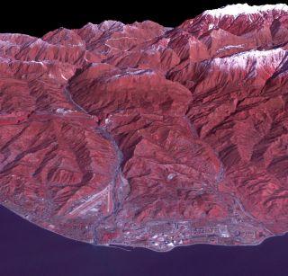 Black Sea Resort of Sochi, Russia Space View