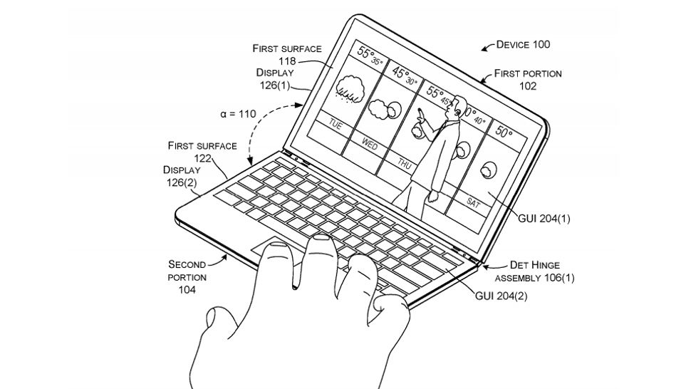 Another patent shows how Microsoft's rumored dual-screen device might work