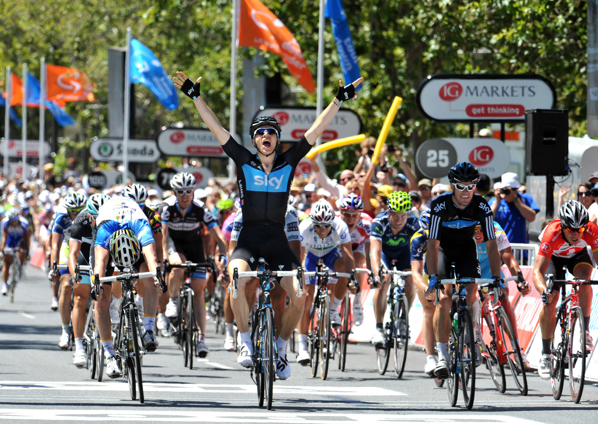 Ben Swift wins stage, Tour Down Under 2011, stage six