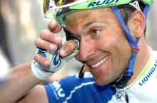 Ivan Basso (Liquigas-Cannondale) at the finish of stage 11.