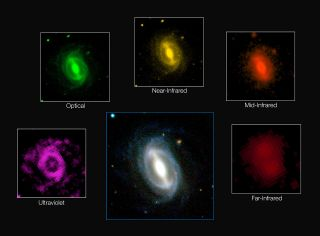 Galaxy at Different Wavelengths