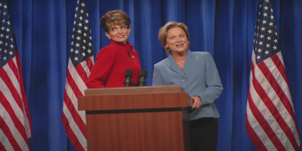 Tina Fey and Amy Poehler on Saturday Night Live