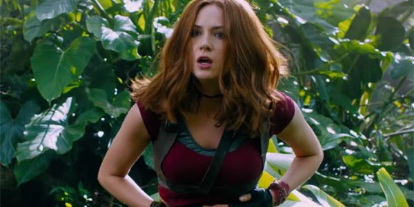 why karen gillan wasn 39 t turned off by jumanji welcome to the jungle being a reboot. Black Bedroom Furniture Sets. Home Design Ideas