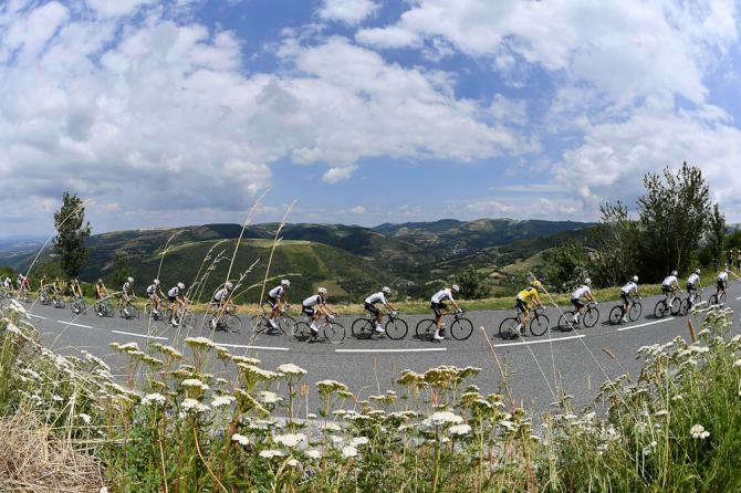 Scenery along the route of stage 15 at the Tour de France