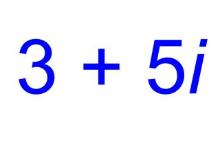 complex numbers, real numbers