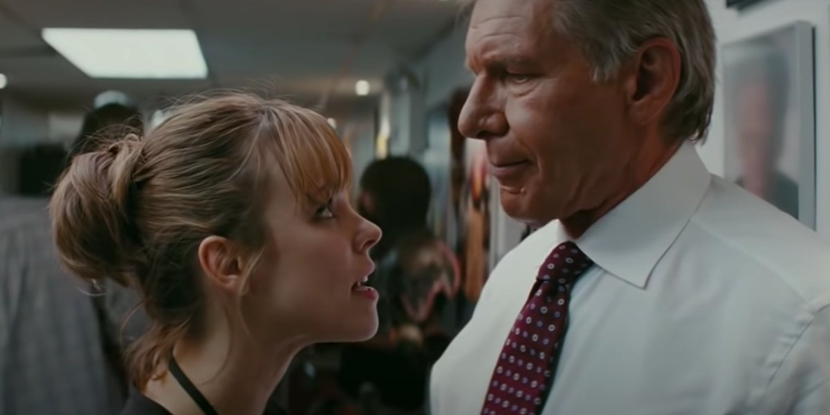 Rachel McAdams and Harrison Ford in Morning Glory