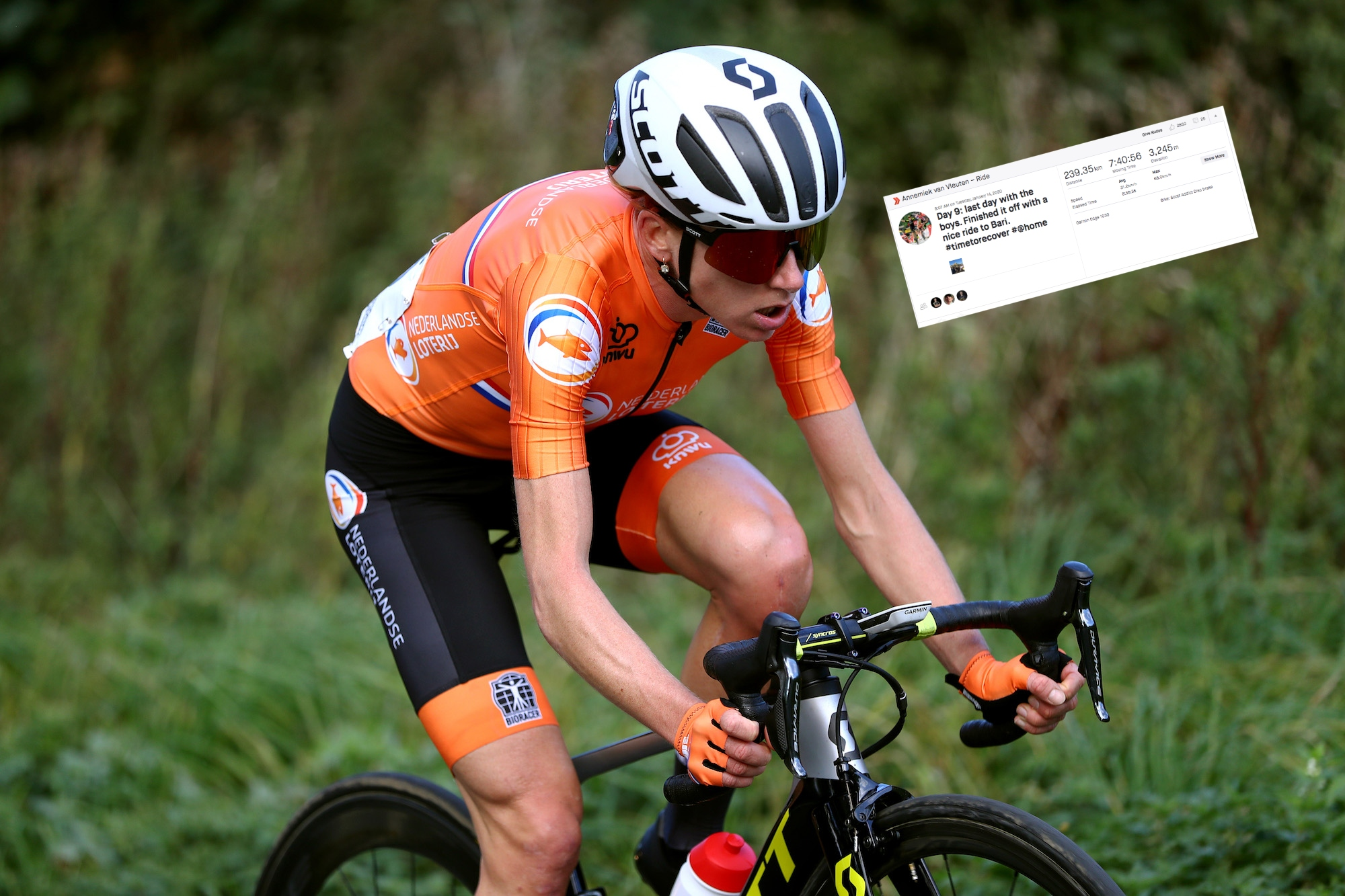 Egan Bernal and Annemiek van Vleuten top the leaderboard for most training kilometres on Strava