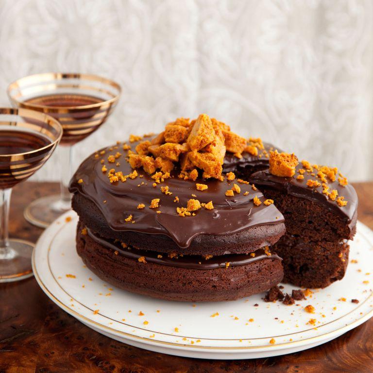Chocolate and Honeycomb Torte recipe-chocolate recipes-recipe ideas-new recipes-woman and home