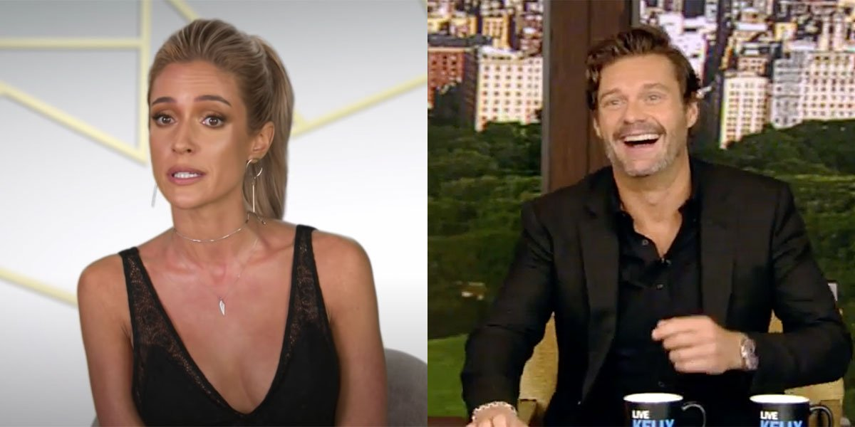 Ryan Seacrest and Kristin Cavallari interview side-by-side