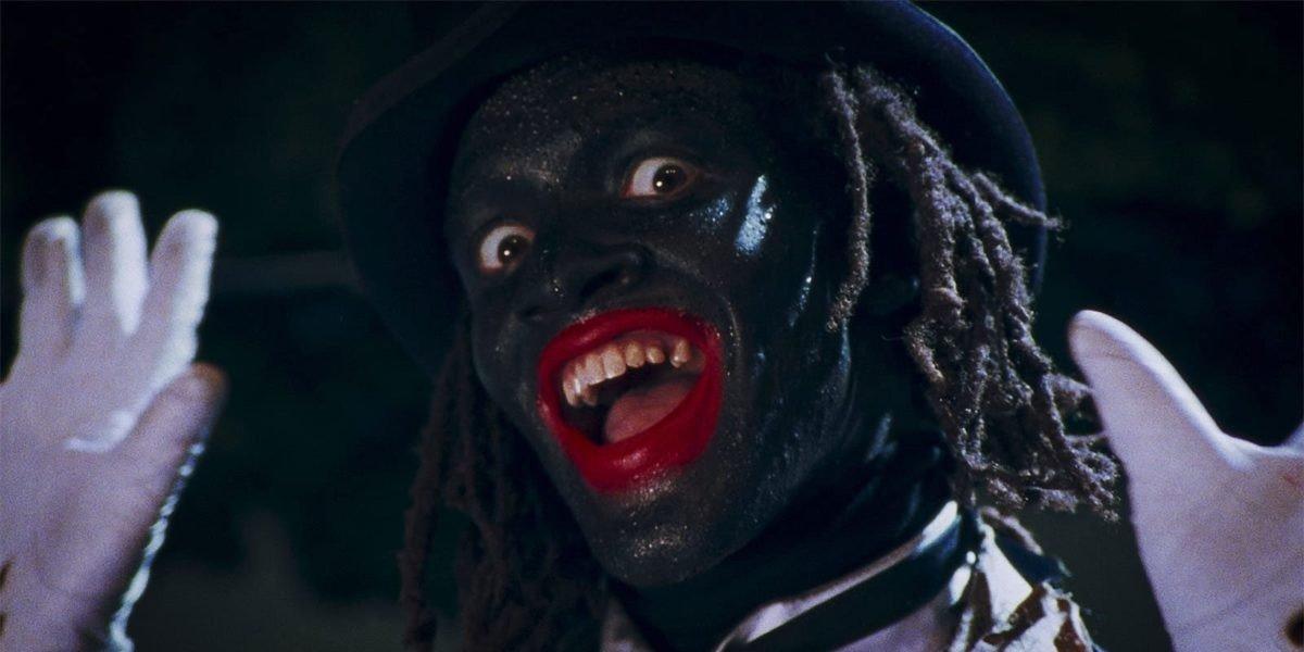 Man in black face