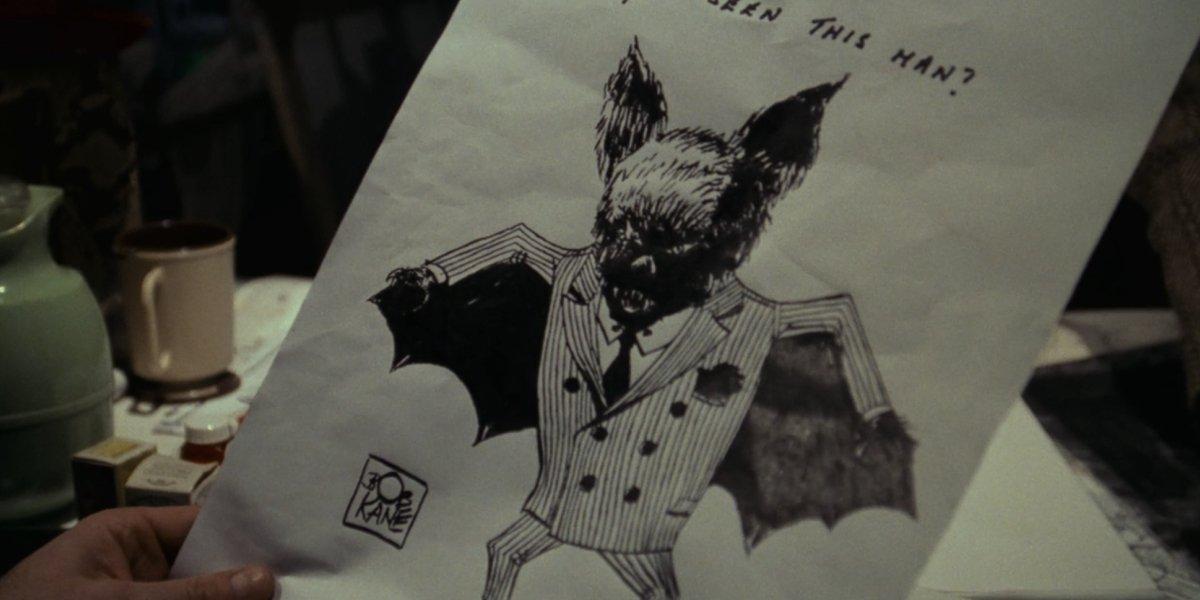 Bob Kane's Bat-Man illustration from Batman