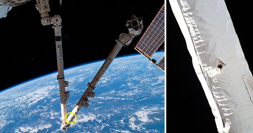 International space station hit by orbital debris in 'lucky strike' (video)
