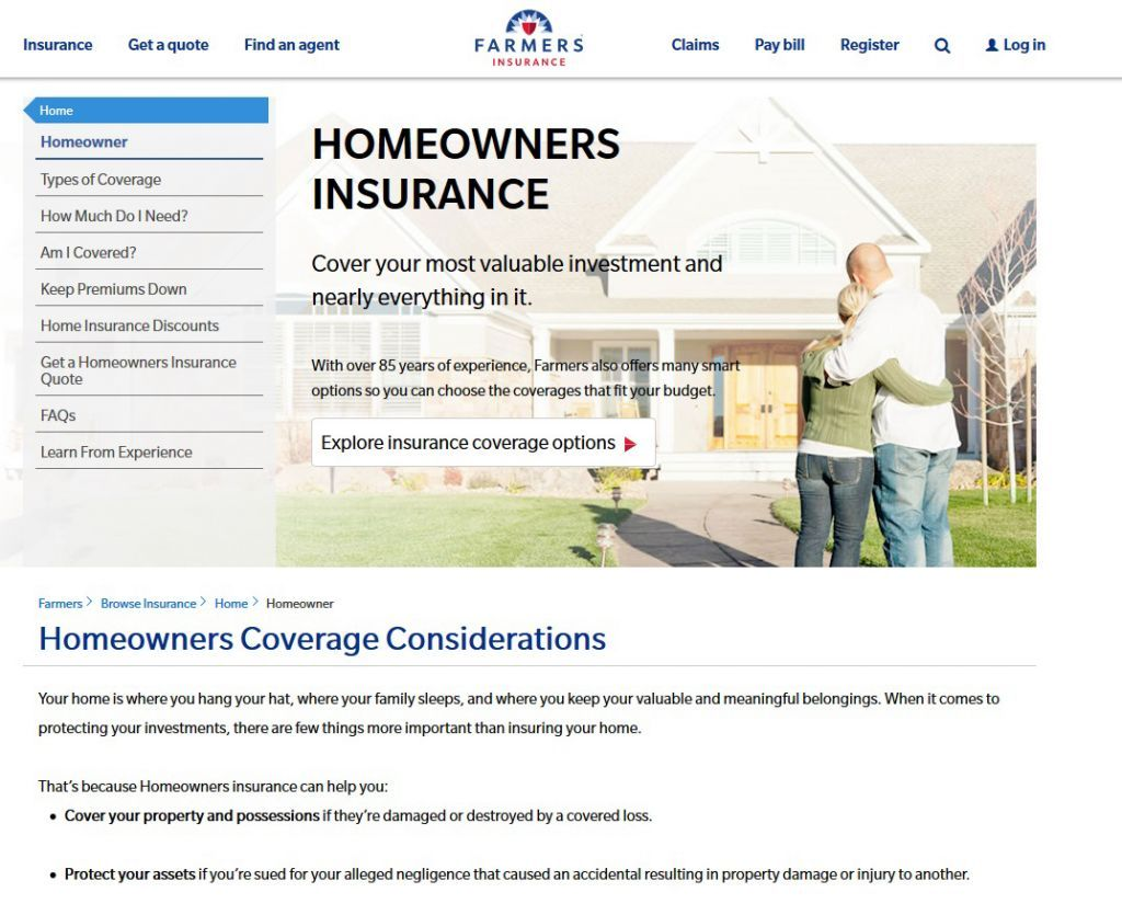 Farmers Homeowners Insurance >> Farmers Homeowners Insurance Review Premiums Coverage Top Ten