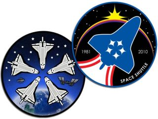 Astronauts, Space Workers Offer Designs for NASA Shuttle Patch Contest